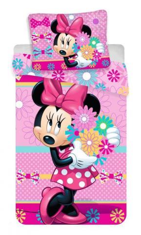 Dětské bavlněné povlečení Disney Minnie bows and flowers