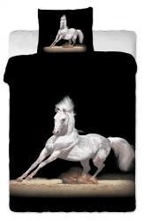Dětské bavlněné povlečení fototisk - Bílý kůň