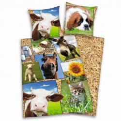 Dětské bavlněné povlečení Herding Farma zvířat