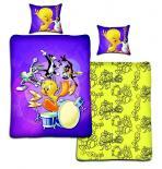 Dětské bavlněné povlečení Looney Tunes - Tweety a kapela