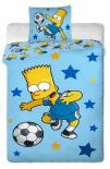 Dětské bavlněné povlečení Simpsons Bart blue