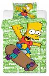 Dětské bavlněné povlečení Simpsons Bart green 2016