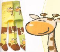 Dětské FROTÉ punčocháčky Novia - ZOO Žirafa