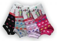 Dětské kotníkové ponožky Design Socks - barevné srdíčka