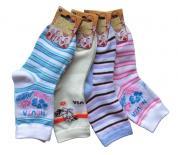 Dětské ponožky Novia kytka-pruh 3 páry
