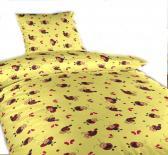 Dětské povlečení bavlna do postýlky Berušky žluté
