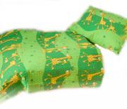 Dětské povlečení bavlna do postýlky - Žirafa zelená