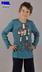 Dětské pyžamo dlouhé Vienetta Secret Americký Fotbal