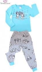 Dětské pyžamo dlouhé Vienetta Secret Kitty
