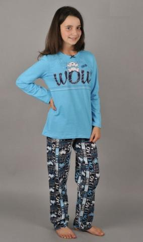 Dětské pyžamo dlouhé Vienetta Secret Méďa Wow