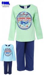 Dětské pyžamo dlouhé zateplené Vienetta Secret Letadlo