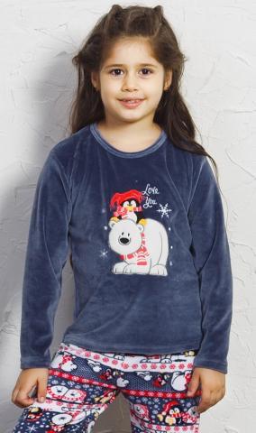 Dětské pyžamo velurové Vienetta Secret Friends
