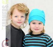 Dětské tričko dlouhý rukáv Choco tyrkys