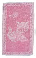 Dětský ručník Kotě růžové