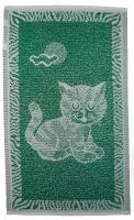 Dětský ručník Kotě tmavě zelené