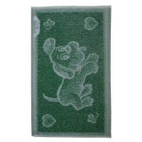 Dětský ručník Pejsek tmavě zelený