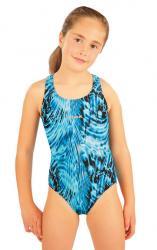 Dívčí jednodílné sportovní plavky Litex 88506 tisk