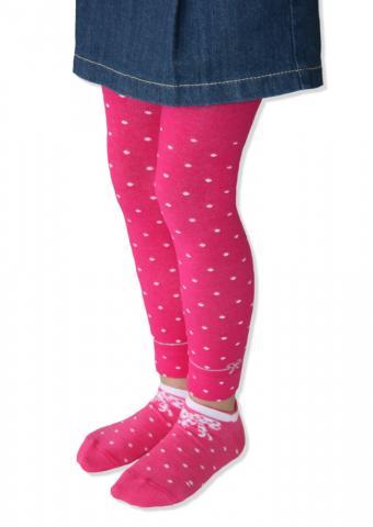 Dívčí legíny Design Socks - puntík mašlička
