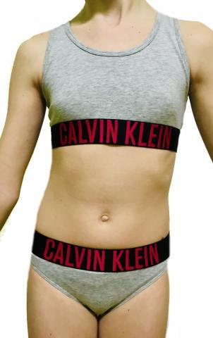 Dívčí set Calvin Klein 800143 + 800153 šedý