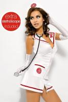 Erotický kostým Obsessive Emergency dress a stetoskop