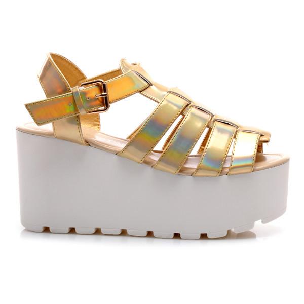 fd06ba831eb Dámské zlaté sandály KOI W1GOH - KOI (Dámská obuv)