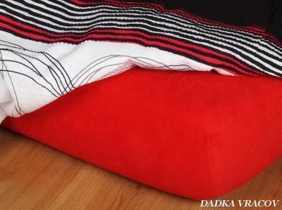 Jersey prostěradlo červené 140x200x23 cm