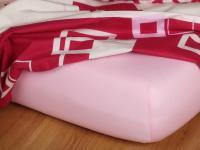 Jersey prostěradlo světle růžové 180x200x18 cm