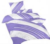 Ložní povlečení bavlna DADKA Globus fialový