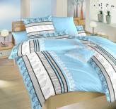 Ložní povlečení bavlna DADKA Jasany modré