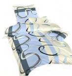 Ložní povlečení bavlna DADKA Prsteny modré