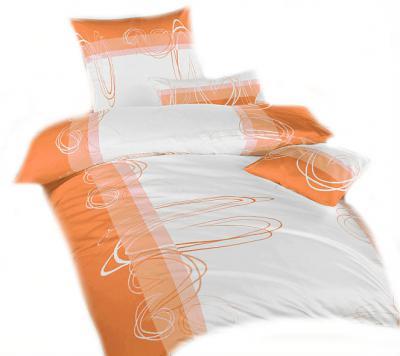 Ložní povlečení bavlna Smyčky oranžové