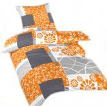 Ložní povlečení flanel Bluemoon oranžový