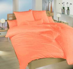 Ložní povlečení krep světle oranžové