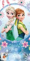 Osuška Frozen blue sisters