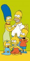 Osuška Simpsons family green 70x140 cm