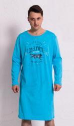 Pánská noční košile s dlouhý rukáv Vienetta Secret Vlk