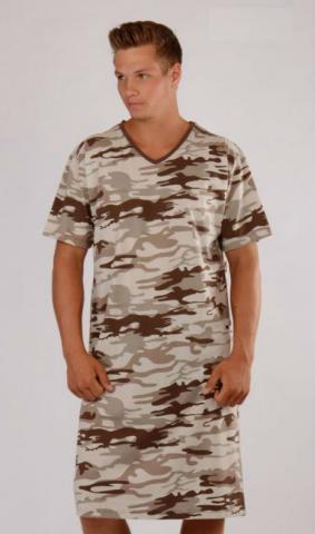 Pánská noční košile s krátkým rukávem Vienetta Secret Army