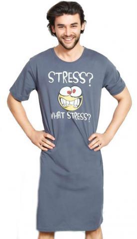 Pánská noční košile s krátkým rukávem Vienetta Secret Stress