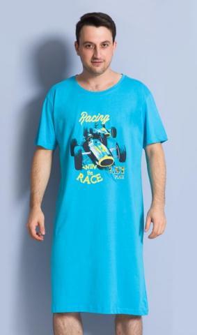 Pánská noční košile s krátkým rukávem Vienetta Secret Závodní auto