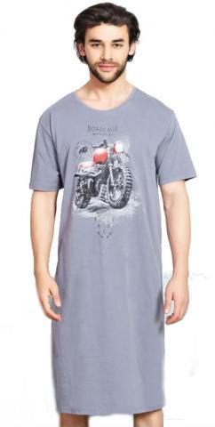 Pánská noční košile Vienetta Secret Motorka