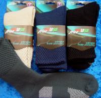 Pánské ponožky jednobarevné Novia s protiskluzem