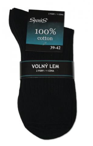 Pánské ponožky Sponks - 100% bavlna - balení 2 páry
