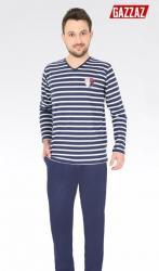 Pánské pyžamo dlouhé Vienetta Secret Victory