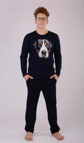 Pánské pyžamo dlouhé Vienetta Secret Pes George