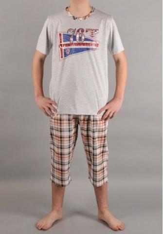 Pánské pyžamo kapri Vienetta Secret Mariňák výprodej
