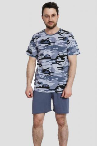 Pánské pyžamo šortky Vienetta Secret Army výprodej