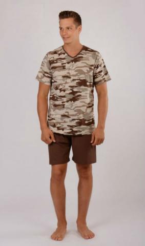 Pánské pyžamo šortky Vienetta Secret Army