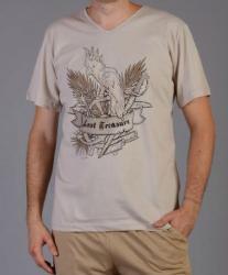 Pánské pyžamo šortky Vienetta Secret Papoušek výprodej