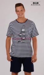 Pánské pyžamo šortky Vienetta Secret Plachetnice výprodej