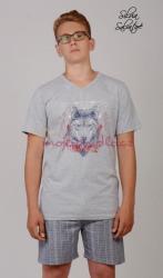 Pánské pyžamo šortky Vienetta Secret Vlk výprodej
